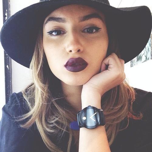 burgundy lips 4